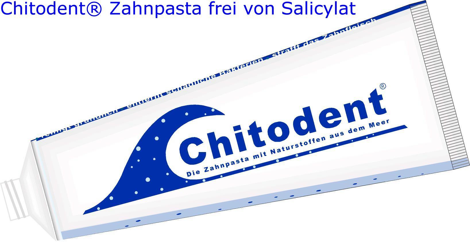 Chitodent Zahnpasta ist frei von Salicylat und Menthol