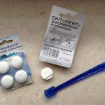 Chitodent® Zungenreiniger mit Austauschpad mit Silberionen. Zungenreinigeraustauschkopf auch für Orasys Zungenreiniger