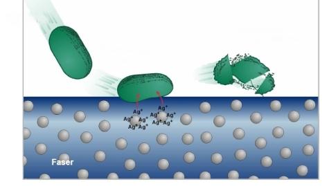 Zahnbürste mit Silberionen. Neu ist Silberionen gegen Mikroben