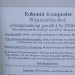 Eokomit ( Dr. Holzinger) enthält wie Ecosana (Dr.Holzinger) anaerobe Bakterienkulturen, die alle organischen Abfälle je nach Material und Jahreszeit in Humus umwandeln.