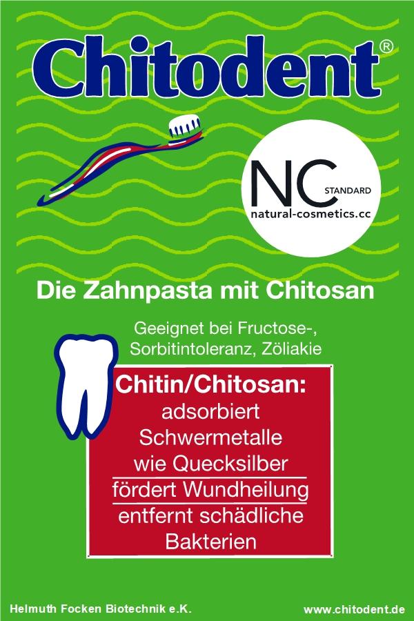 Erythritzahnpasta mit Chitosan von Chitodent® zertifiziert nach NCS