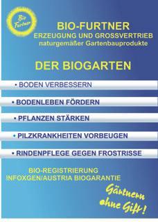 Bio Furtner Bodenverbesserungsmittel, Algen und Gesteinsmehlen, biologischer Dünger, biologischer Pflanzenschutz, biologische Schädlingsbekämpfung.