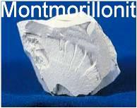 Tonminerale z.B. Montmorillonit sind natürliche siliziumreiche Minerale, die für das Mineralkomposit verwendet werden